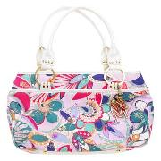 Butterfly by Matthew Williamson - Light Blue Floral Print Tote Bag