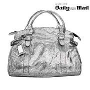 Red Herring - Mirrored Silver Faux Snake Bag
