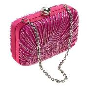 Star by Julien Macdonald - Pink Beaded Hard Cased Box Bag