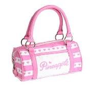 Pineapple - Pink Stripe Barrel Bag
