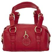 J Jeans by Jasper Conran - Red Buckle Handle Bowling Bag