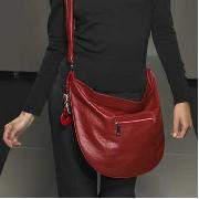Red Herring - Red Cross Body Bag with Heart Charms
