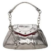 John by John Richmond - Silver Coloured Chain Shoulder Bag