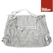 John by John Richmond - Silver Coloured Large Chain Mail Slouch Bag