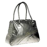 Pineapple - Silver Coloured Metallic Bowling Bag