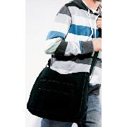 Next - Black Canvas Messenger Bag