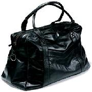 Next - Black Leather Holdall