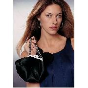 Next - Black Satin Chain Handle Bag