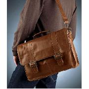 Next - Tan Casual Leather Briefcase