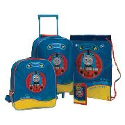 Next - Thomas the Tank Engine Four Piece Trolley Case and Bag Set