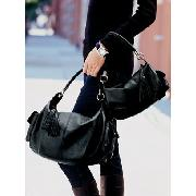 Next - Black Mini Leather Hobo Bag